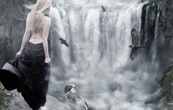фото девушка блондинка со спины