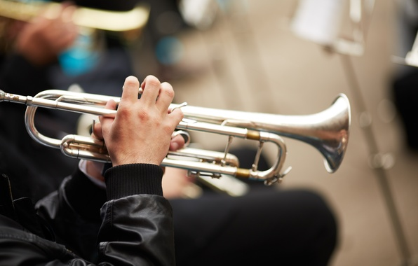 Картинка музыка, труба, мужчина, инструмент, мелодия