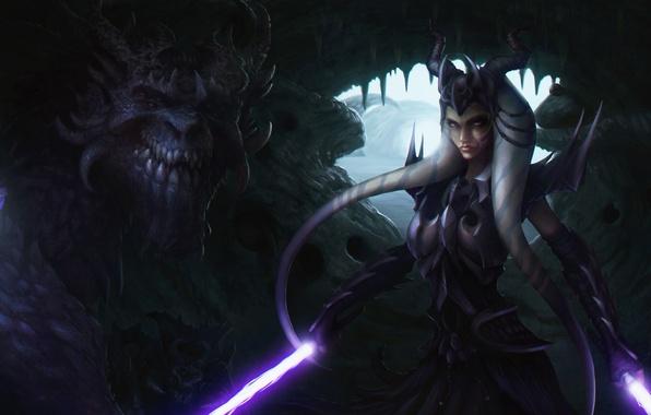 Картинка star wars, fan art, lightsaber, jedi, Ahsoka Tano, dragon knight