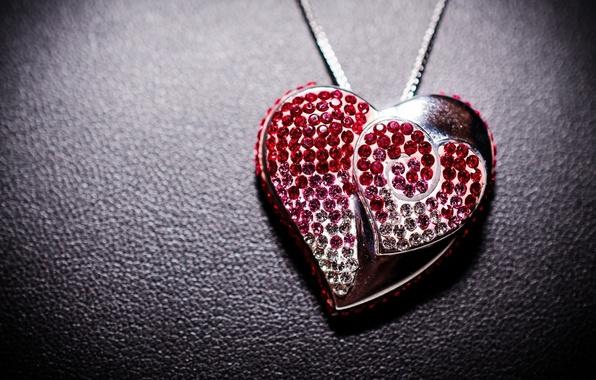 Картинка кулон, украшение, сердечко, heart, jewelry, pendant