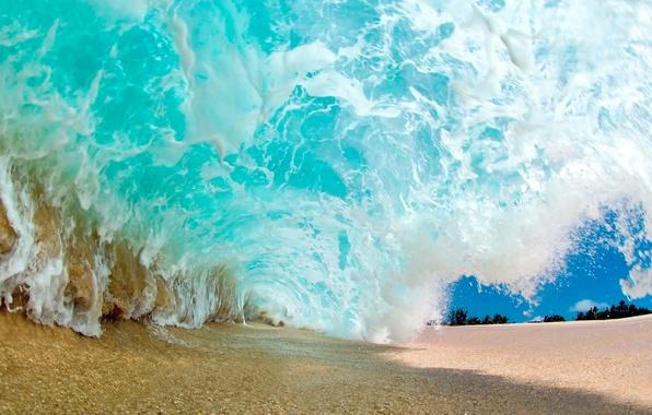 Картинка песок, пляж, волна, beach, sand, wave