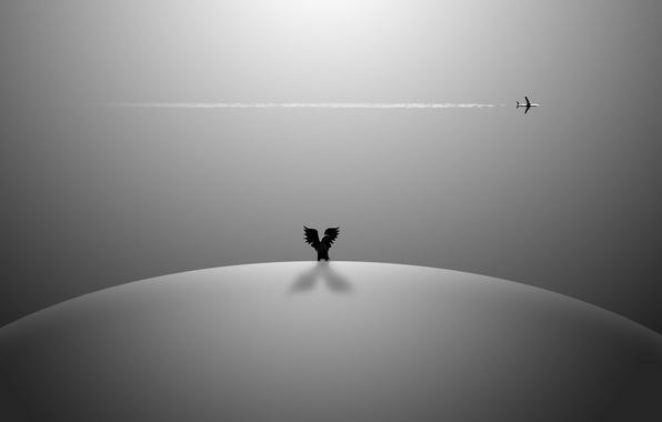 Картинка небо, фон, самолёт