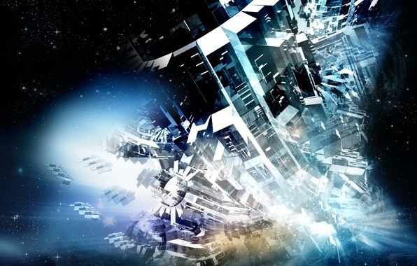 Картинка космос, фантазия, механизм