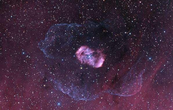 Картинка космос, звезды, туманность, красиво, NGC 6164