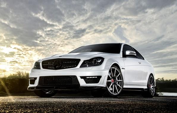 Картинка Белый, Машина, Тюнинг, Мерседес, Desktop, Mercedes, Benz, Car, 2012, Автомобиль, Beautiful, Vorsteiner, AMG, Coupe, White, …