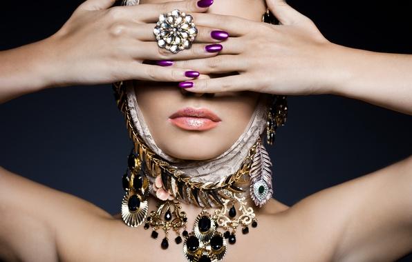Картинка woman, rings, jewelry