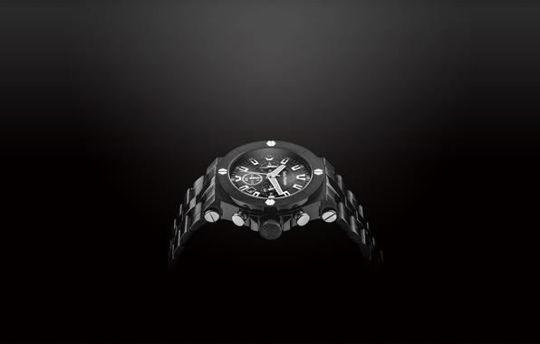 Картинка metal, white, black, watch, Jack Pierre