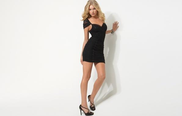 Картинка грудь, взгляд, девушка, секси, фон, модель, платье, блондинка, ножки, sexy, красотка, талия, Victoria's Secret Angels, …