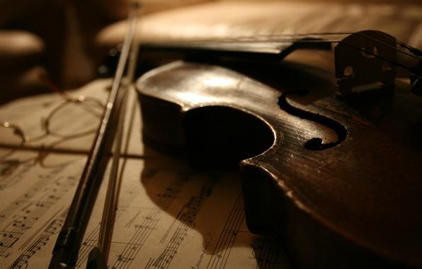 Картинка ноты, музыка, скрипка