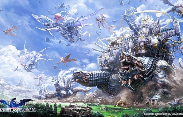 Картинка фентези, арт, monster dragons