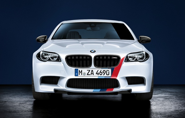 Картинка BMW, white, front, F10, Performance, 5 Series