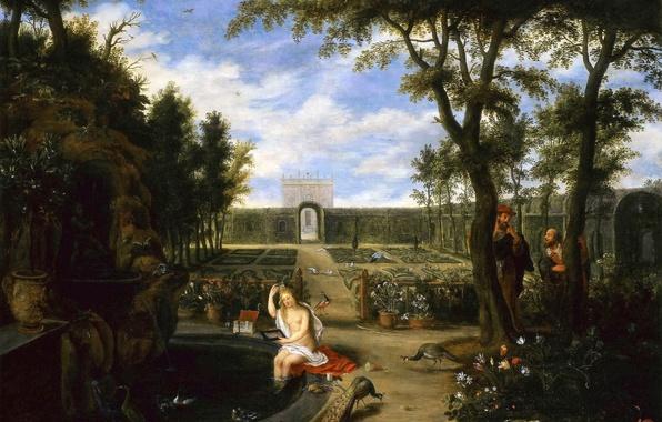 Картинка картина, мифология, Ян Брейгель младший, Сусанна и Страрцы