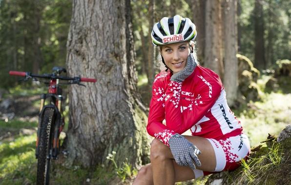 Картинка девушка, велосипед, секси, поза, фигура, Girl, bicycle, woman, позирует, Beauty, Bike, mtb, Sport, Love on …