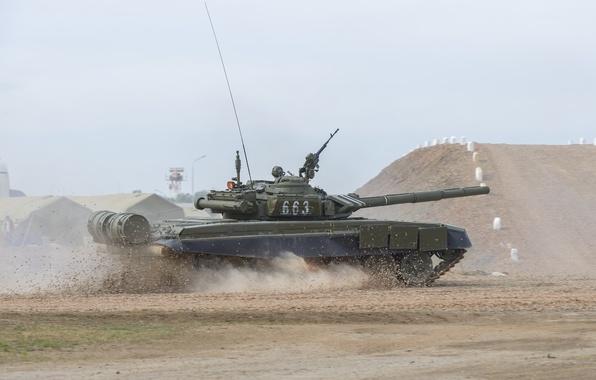 Картинка танк, боевой, бронетехника, Т-72