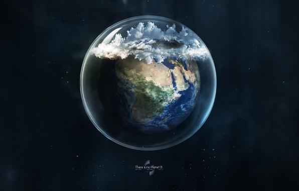 Фото обои шар, земля, стекло, планета