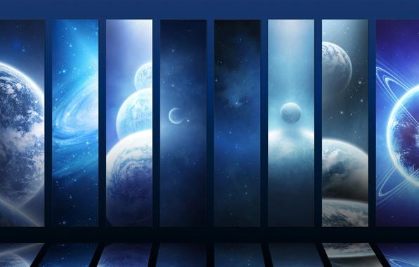 Картинка звезды, планеты, stars, галактики, planets, galaxies, просторы вселенной