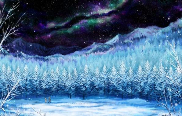 Звезда дерево зима картинки