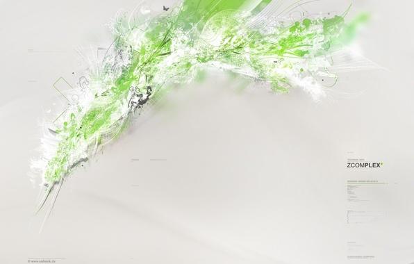 Картинка брызги, зеленый, серый, фон, обоя