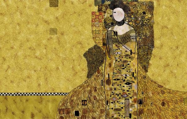 Картинка Orange, woman, Yellow
