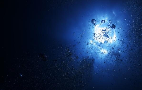 Картинка море, лето, вода, солнце, пузыри, океан, воздух, bubbles, подводный мир, underwater, sea, ocean, water, водные …