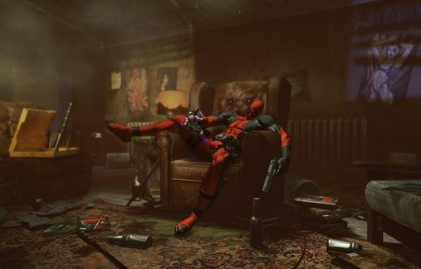 Картинка game, наёмник, Deadpool, Дэдпул, росомаха, домино
