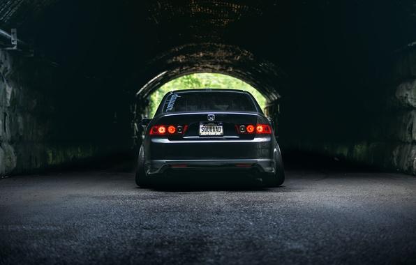Картинка Honda, тунель, accord, stance, Acura TSX