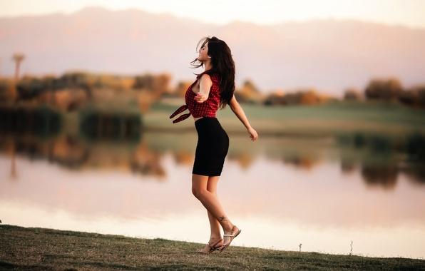 Фото обои Dancing to freedom, танец, девушка, David Olkarny, фигура