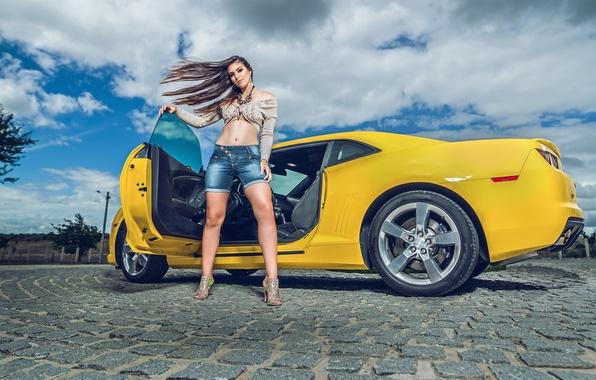 Картинка шорты, Chevrolet, Camaro, Chevrolet Camaro, Helena De Castro Rios