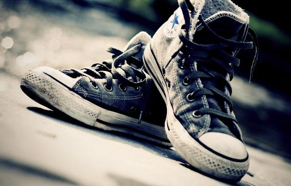 Картинка макро, обувь, кеды, шнурки