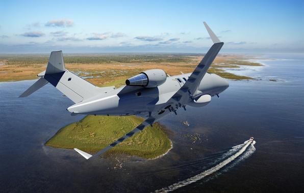Картинка ландшафт, Bombardier, бизнес-джет, Challenger 600