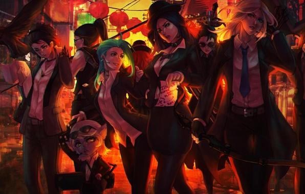 Картинка девушки, арт, костюм, lol, League of Legends, Riot Games, moba