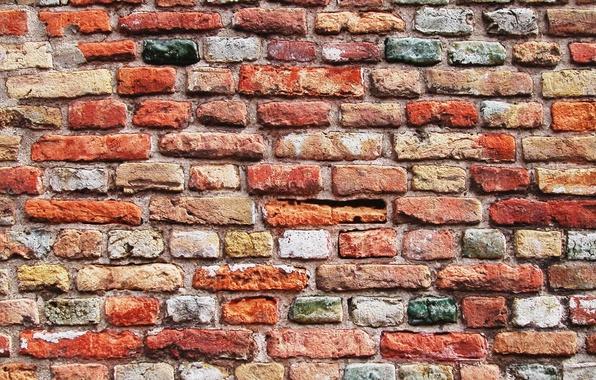Картинка стена, кирпич, текстура, wall