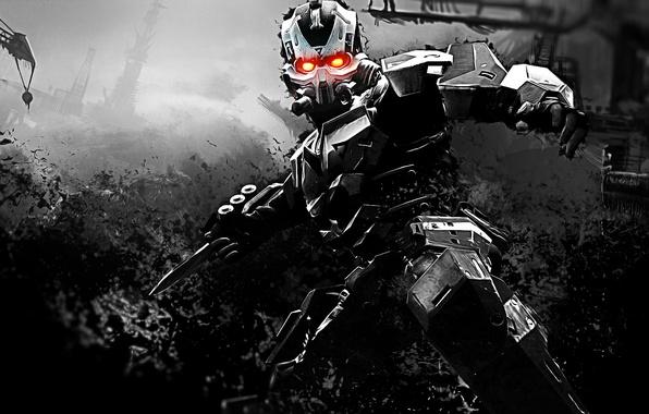 Картинка оружие, фантастика, робот, киборг, Killzone 3, видеоигра
