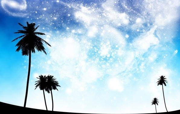 Картинка небо, космос, мечты, голубой, черный, perfect dreams