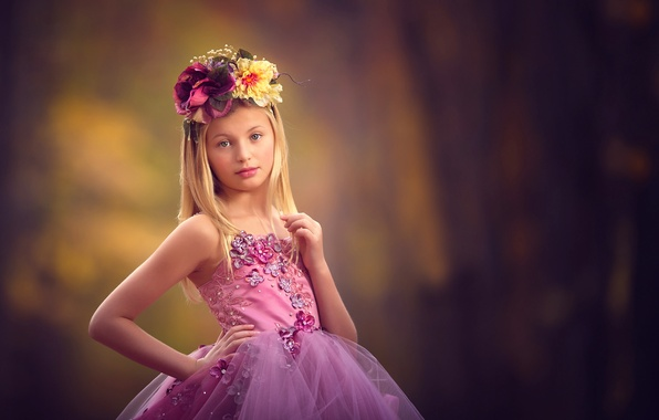 Картинка платье, девочка, венок, meg bitton