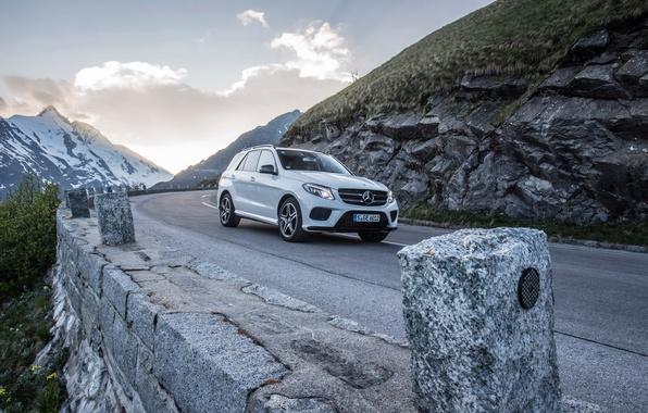 Картинка белый, купе, Mercedes-Benz, мерседес, AMG, Coupe, 4MATIC, 2015, C292, GLE 450