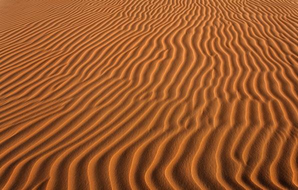 Картинка песок, волны, природа, пустыня