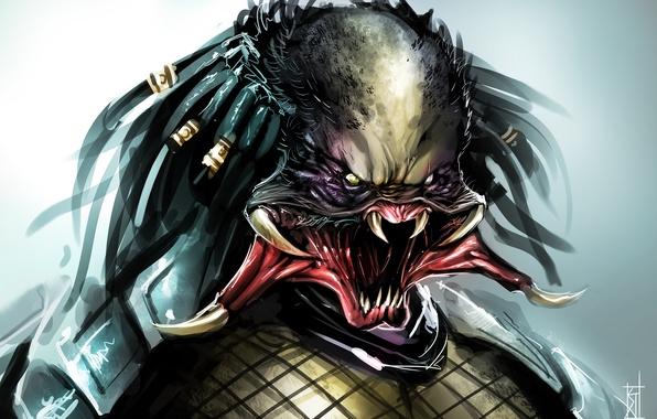 Картинка пасть, клыки, Хищник, Predator, art, by TheRisingSoul