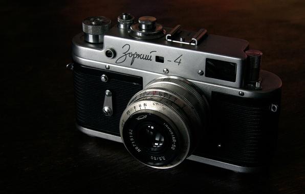 Картинка старина, ретро, фото, фотоаппарат, объектив, зоркий