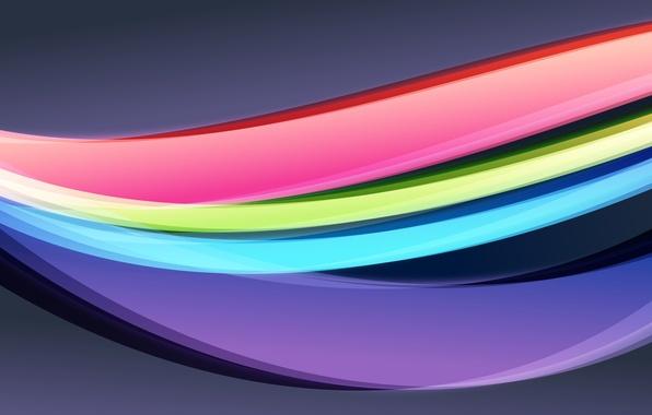 Картинка цвета, абстракция, креатив, яркие, дуги, изгибы, Creative, wallpapers