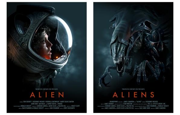 Картинка aliens, Alien, science fiction, 1979, helmet, 1986, space suit, Sigourney Weaver, posters of classic movies