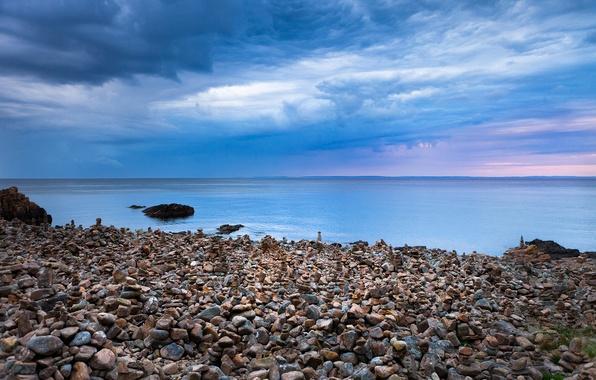 Картинка море, камни, побережье, Швеция, Sweden
