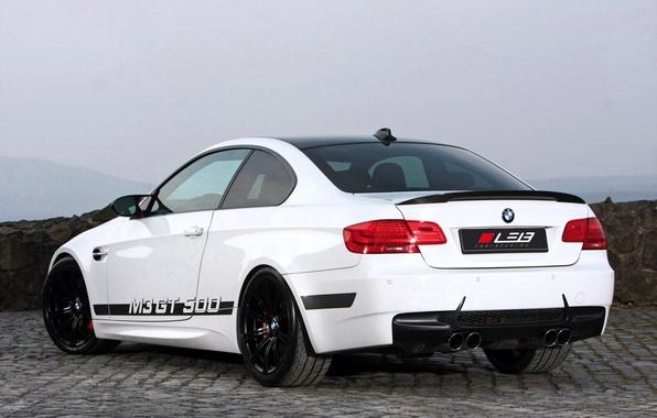 Картинка Белый, BMW, Улица, БМВ, GT 500, Купэ, Вид сзади