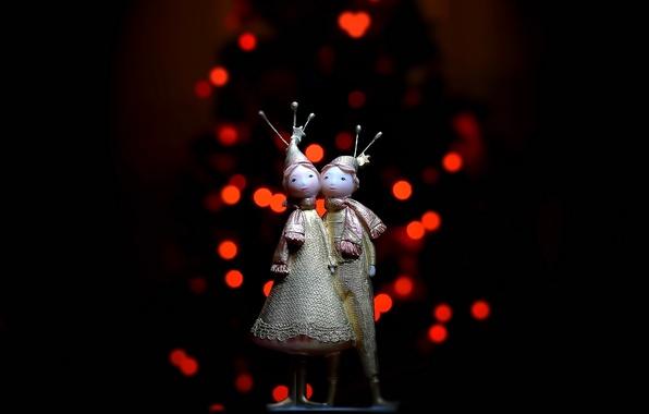 Картинка макро, фон, праздник, игрушки