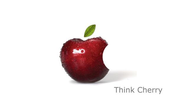Картинка компьютер, капли, текст, apple, яблоко, логотип, листик, mac, телефон, ноутбук, эмблема, гаджет