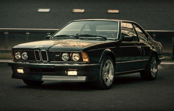 Картинка BMW, black, E24, CSi, M635