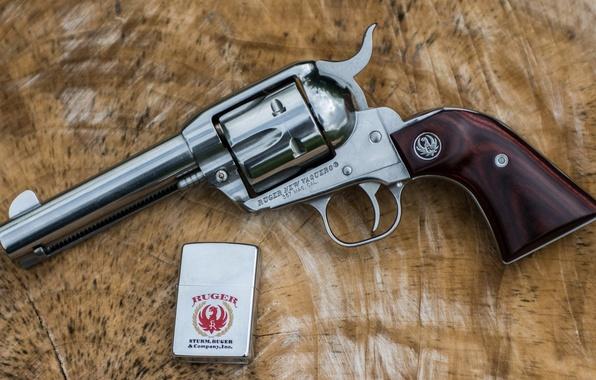 Картинка оружие, фон, зажигалка, ствол, револьвер, рукоять, Ruger