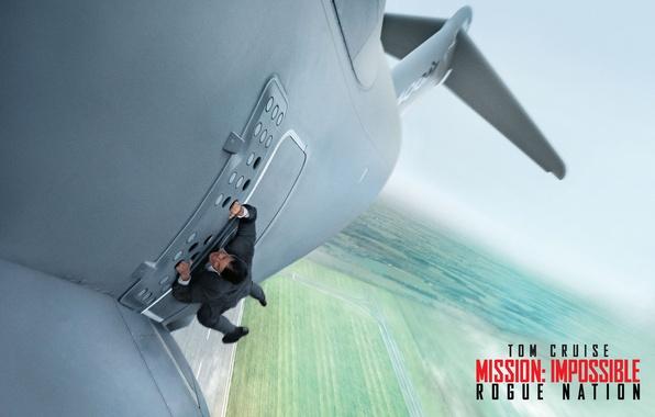 Фото обои самолет, ситуация, агент, постер, взлет, Том Круз, Tom Cruise, Ethan Hunt, Mission: Impossible - Rogue ...