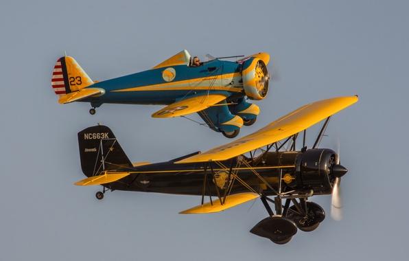 Картинка полет, ретро, самолеты, классика