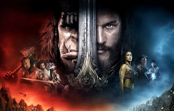 Картинка Girl, Fantasy, Warcraft, Orc, Legendary Pictures, Men, Lion, Paula Patton, EXCLUSIVE, Lady, Sword, Human, King, …